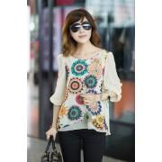 Удлиненная блузка с орнаментом