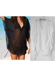 Прозрачное пляжное платье