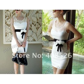 Вечернее белое мини-платье