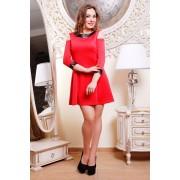 Короткое красное платье Yana