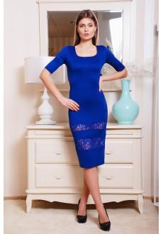 Платье с гипюровыми вставками Anetta