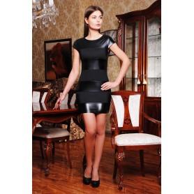 Платье с кожаными полосками Polly
