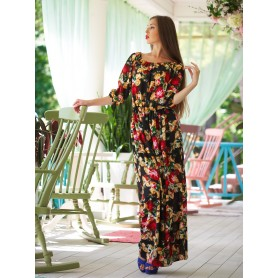 Длинное платье в цветочек Alessia