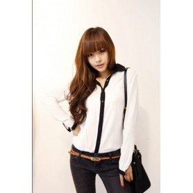 Черно-белая рубашка