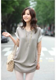 Свободная рубашка с коротким рукавом