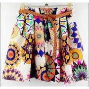 Плиссированная юбка с цветами