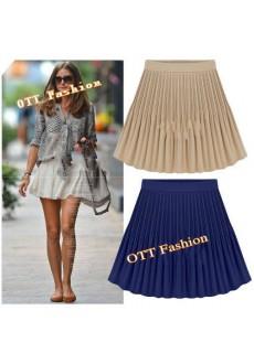 Шифоновая юбка со складками